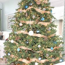 square rustic blue and tree decor at