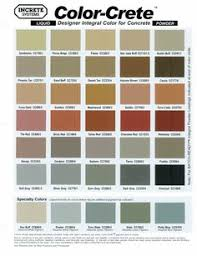 stamped concrete color chart offered by davis colors features a