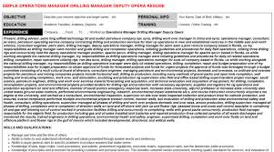 operations manager drilling manager deputy opera cover letter u0026 resume