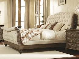 Fabric Sleigh Bed with Sleigh Beds Luxedecor