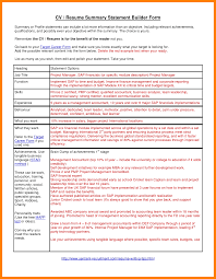 resume summary statement exles management goals 7 resume summary statement exle letter signature