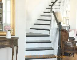 How To Paint Stair Banisters How To Paint A Staircase Black And White With All The Details