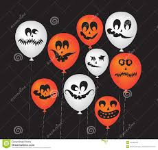 halloween ghost balloons stock vector image 44265405