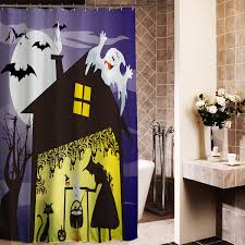 180x180cm halloween evil witch ghost monster polyester shower