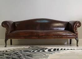 rockingham chippendale sofa hand dyed walnut leather u2013 robinson