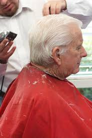 hair cut for senior citizens grandpa gets a haircut stock image image of retirement 11016839