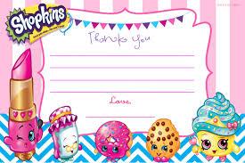 Birthday Card Invitations Templates Updated U2013 Free Printable Shopkins Birthday Invitation Template
