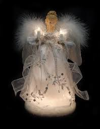 amazon com vickerman ice palace lighted white and silver angel