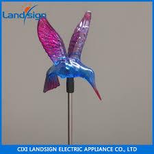 sale garden decoration items color changing solar hummingbird