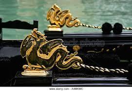 hippocus gondola venice ornament stock photos hippocus