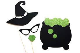 Halloween Photo Booth Props Halloween Witches Brew Birthday Photo Booth Props For Wedding