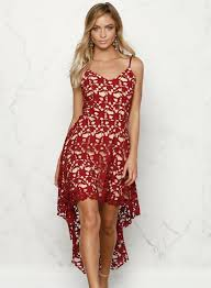 spaghetti dress floral lace trim asymmetric spaghetti dress oasap