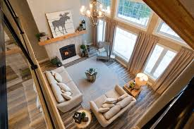 house plans with vaulted great room great room view from the loft windows in high vaulted