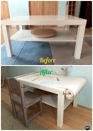 Diy Kid Desk Diy Ikea Craft Desk Makeover Back To