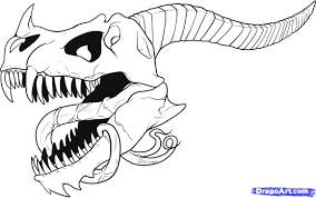 how to draw a dragon skull step by step skulls pop culture