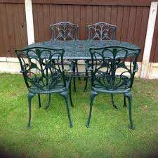 Cast Aluminium Outdoor Furniture by Cast Aluminium Garden Table And 4 Carver Chairs In Romford