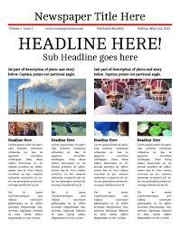 newspaper newsletter template business plan template