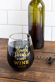 wine glass gift hocus pocus stemless wine glass s