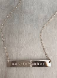 necklaces names two name bar necklace bar necklace handmade jewelry