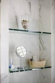 Replacement Glass Shelves by Diy Bathroom Renovation Reveal Glass Shelves Powder Room And