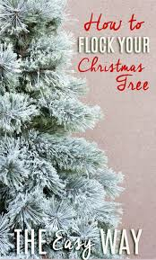 lightly flocked christmas tree easy flocked christmas tree instructions all things thrifty