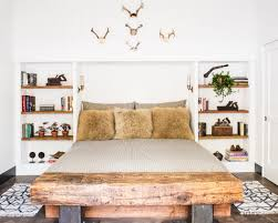 decor traditional bedroom design ideas with wood bed and side