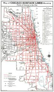 Cable Car Map Chicago Surface Lines