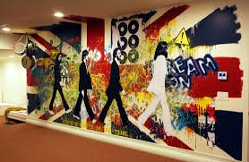 blog studio cultivate the beatles union jack rock and roll painted wall mural