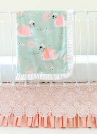 Harlow Crib Bedding by Swans Are One Of The Latest Home Decor Trends And The Perfect
