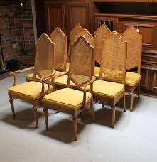 set of bernhardt furniture cane dining chairs ebth