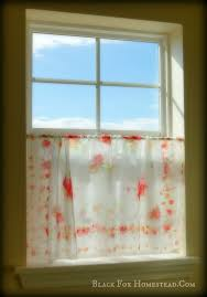 Easy No Sew Curtains Quick And Easy No Sew Window Treatment Ideas Black Fox Homestead
