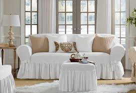 white slipcovers for sofa i would like these in both sofa and seat size color white