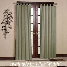 Textured Cotton Tie Top Drape by Solid Color Curtains Touch Of Class