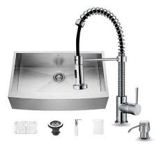 All In One Kitchen Sinks Kitchen The Home Depot - Kitchen sink and faucet sets