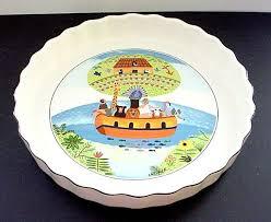 villeroy boch 9 1 2 quiche dish naif pattern of noah s ark mint
