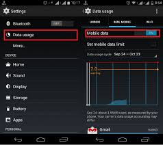on android how to turn on or enable mobile data in android spinfold