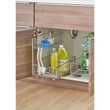 home depot kitchen cabinet organizers sliding undersink organizer tbfc 2204 the home depot