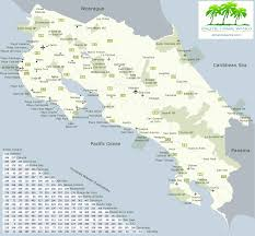 Driving Maps Map Of Costa Rica With Driving Distances