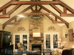 vaulted ceiling beams faux wood beam ideas for vaulted ceilings