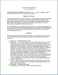 12 best images of business partnership agreement contract