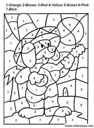 hard color by number pages color by number coloring pages