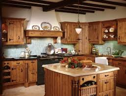 kitchen trendy oak kitchen cabinets country rustic themed