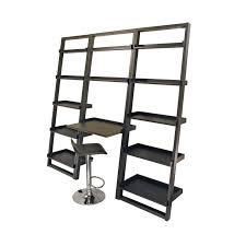 Adjustable Metal Shelves Large Black Metal Leaning Wall Shelves With Built In Tray Desk And