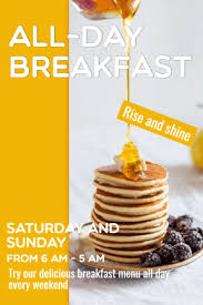 image template all day breakfast rise and shine pixteller