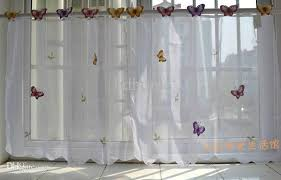 small sheer curtains 2017 wholesale small butterfly sheer curtain