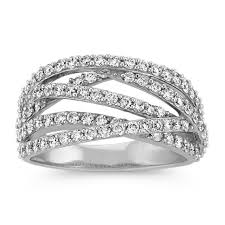 wedding rings cross images Crisscross diamond ring with pave setting shane co jpg&a