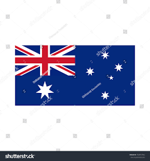 Austrslia Flag Australia Flag Official Colors Proportion Correctly Stock Vector