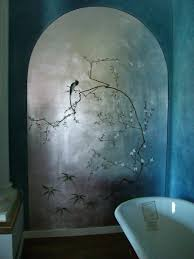 faux walls silver leaf archway and asian tromp l oiel make this faux walls silver leaf archway and asian tromp l oiel make this bathroom a