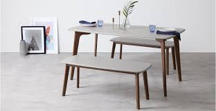 grey oak dining table and bench fjord rectangle dining table and bench set dark stain oak and grey