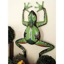 25 in contemporary brown iron crawling lizard wall decor 57882